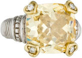 Judith Ripka Canary Crystal & Diamond Cocktail Ring