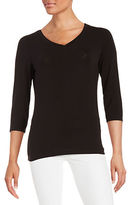 Lord & Taylor Petite V-Neck Tee