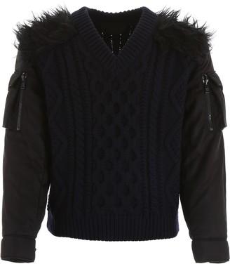 Prada Pullover With Nylon Sleeves