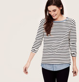 LOFT Petite Two-In-One Softened Shirt