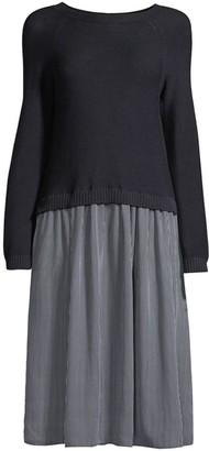 Max Mara Helier Cotton Twofer Dress