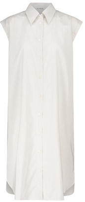 Acne Studios Striped cotton-blend shirt dress