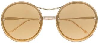 Liu Jo Rimless Round Frame Sunglasses