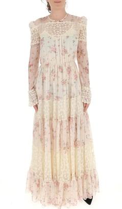 Philosophy di Lorenzo Serafini Floral Lace Long-Sleeve Maxi Dress
