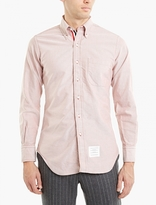 Thom Browne Red Cotton Oxford Shirt