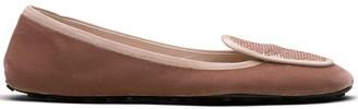 Car Shoe Sequin-Embellished Ballerina Shoes