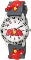 Marvel Boy's 'Iron Man' Quartz Plastic Casual Watch, Color: (Model: WMA000037)
