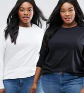 Asos Ultimate Long Sleeved Tunic Oversized T-Shirt 2 Pack
