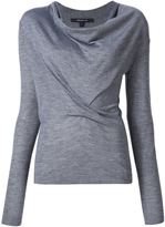 Derek Lam Long Sleeve Sweater With Drape Front