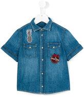 Dolce & Gabbana shortsleeved denim shirt - kids - Cotton - 2 yrs