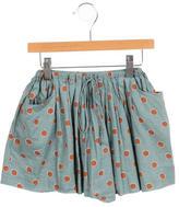 Bonpoint Girls' Adjustable Polka Dot Print Skirt