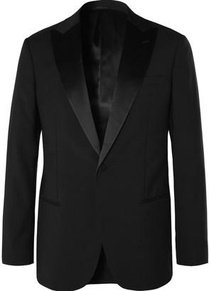 Giorgio Armani Black Soho Slim-Fit Mulberry Silk Satin-Trimmed Virgin Wool Tuxedo Jacket
