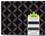 Mica Mountain Paper Notecard Set, Black - Black