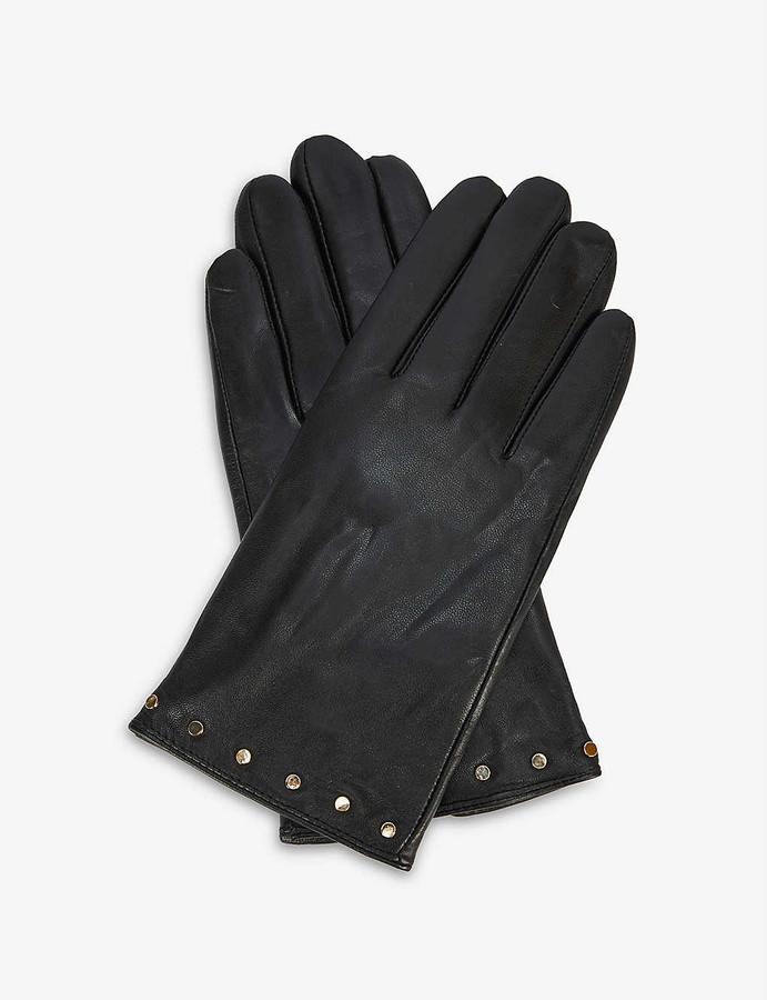 Ted Baker Stud-embellished leather gloves