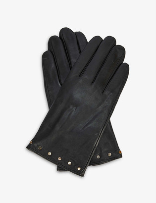 Ted Baker Stud-embellished leather gloves