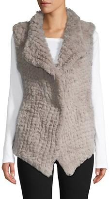 Stella + Lorenzo Open-Front Faux Fur Vest