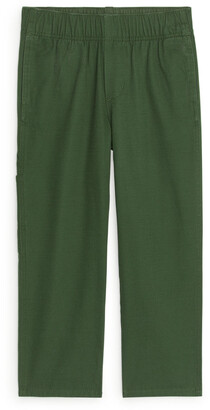 Arket Straight Organic Cotton Trousers