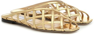 Jimmy Choo Sai metallic leather sandals