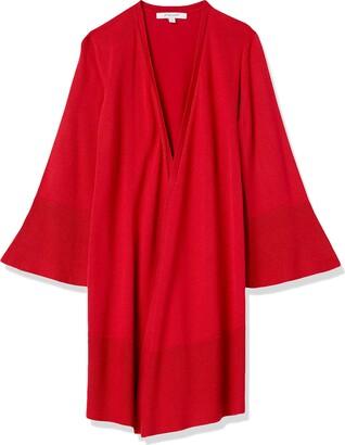 Foxcroft Women's Plus-Size Solid Cascade Open Cardigan