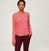 LOFT Ribbed Shirttail Sweater