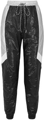 Twenty Montreal Color-block Metallic Shell Tapered Track Pants