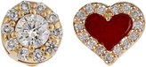 Alison Lou Diamond, enamel & yellow-gold earrings