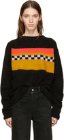 The Elder Statesman Black Cashmere Gofa Stripe Sweater