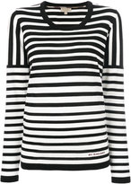 Burberry striped knitted top - women - Merino - XS