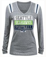 5th & Ocean Women's Seattle Seahawks Triple Threat Long Sleeve T-Shirt