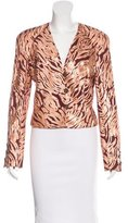Salvatore Ferragamo Embroidered Long Sleeve Blazer