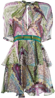 DSQUARED2 floral print layered dress