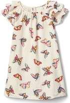 Gap Butterfly ruffle-sleeve dress