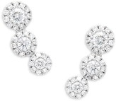 Saks Fifth Avenue 14K White Gold & Diamond Earrings