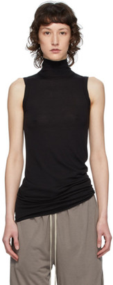 Rick Owens Lilies Black Heavy Jersey Sleeveless Turtleneck Sweater