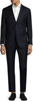 Zanetti Men's Luca Wool Solid Notch Lapel Suit