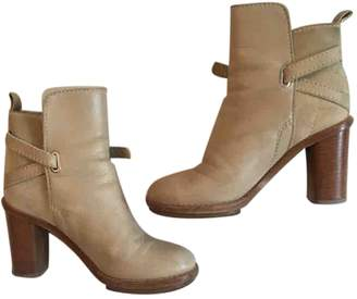 Acne Studios Cypress Beige Leather Ankle boots