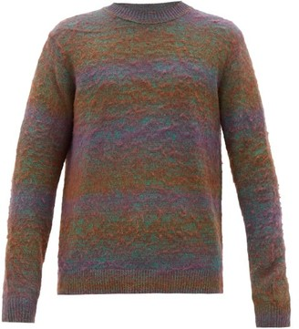 Acne Studios Kamal Variegated-knit Sweater - Mens - Green Multi