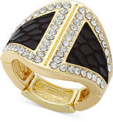 Thalia Sodi Gold-Tone Faux-Snake and Crystal Ring