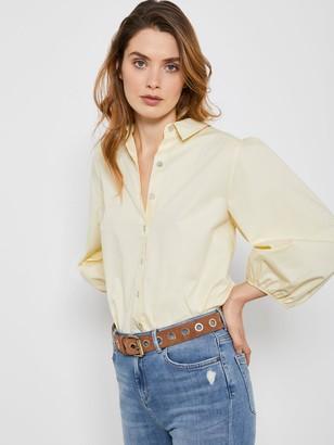 Mint Velvet Full Sleeve Cotton Shirt - Yellow
