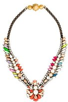 Shourouk Crystal & Faux Pearl Collar Necklace
