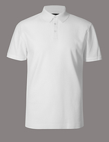 Autograph Pure Cotton Textured Polo Shirt