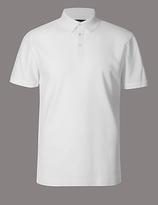 Autograph Slim Fit Pure Cotton Textured Polo Shirt
