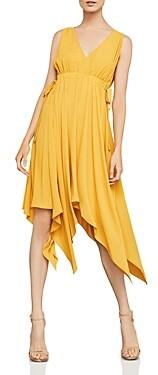 BCBGMAXAZRIA Handkerchief Hem Midi Dress