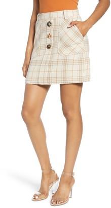 J.o.a. Plaid Miniskirt