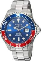 Invicta Men's 'Pro Diver' Quartz Stainless Steel Diving Watch, Color:Silver-Toned (Model: 22823)