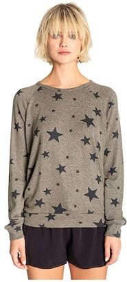 PJ Salvage Weekend Warrior Sweatshirt (Olive) Women's Clothing