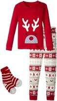 Petit Lem Holiday 3 Piece PJ Set (Toddler/Kid) - Red - 6