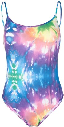 ACK Tie-Dye Rainbow Swim Suit