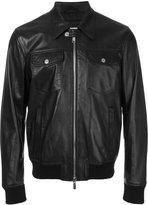 DSQUARED2 bomber jacket - men - Cotton/Polyamide/Polyester/Lamb Nubuck Leather - 48