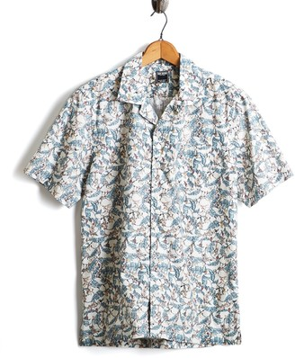 Todd Snyder Short Sleeve Liberty Print Treetop Camp Collar Shirt